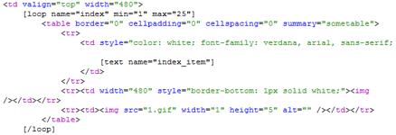 Create web template