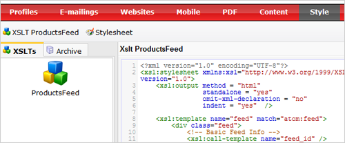 css and xslt in publisher